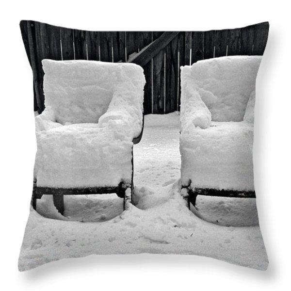 Winter Romance Throw Pillow by Christine Till