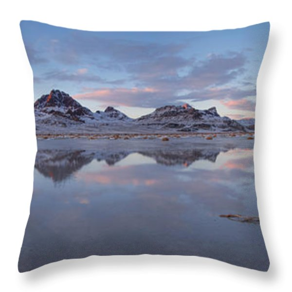 Winter Salt Flats Throw Pillow by Chad Dutson