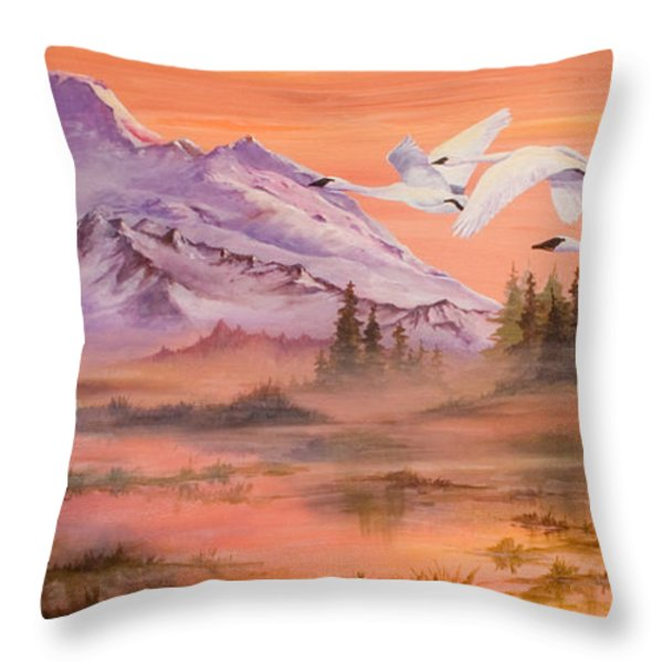 Winter Sanctuary Throw Pillow by Sherry Shipley