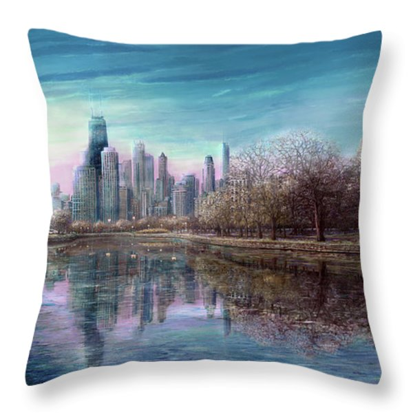 Winter Serenity Deep Throw Pillow by Doug Kreuger