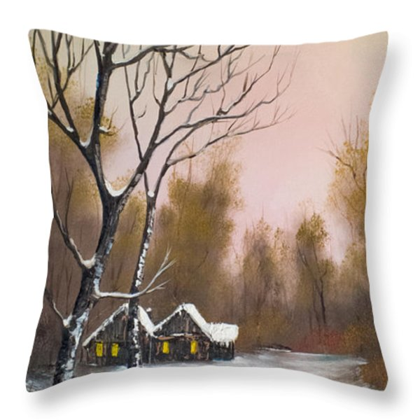 Winter Solace Throw Pillow by C Steele