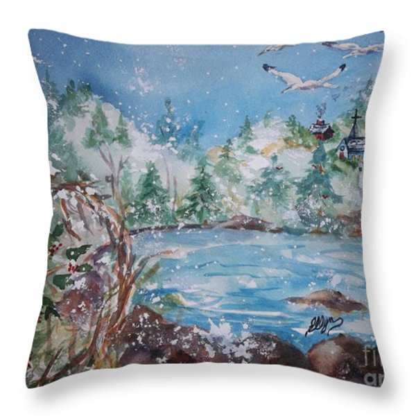 Winter Solstice Throw Pillow by Ellen Levinson