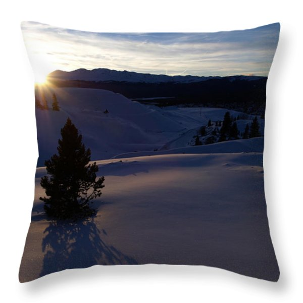 Winter Solstice Throw Pillow by Jeremy Rhoades