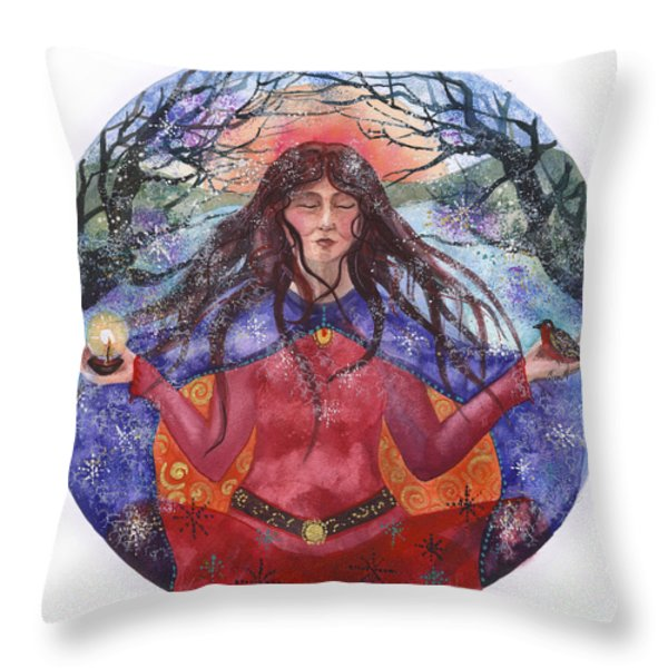 Winter Solstice Throw Pillow by Kate Bedell