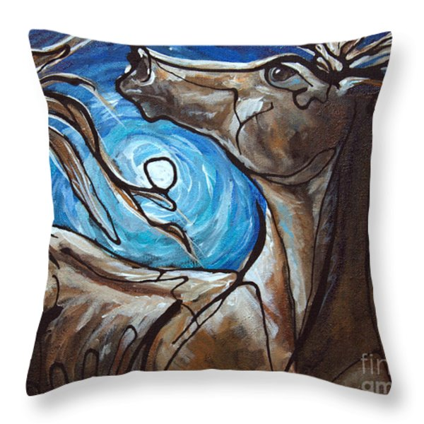 Winter Solstice Moon Throw Pillow by Jonelle T McCoy