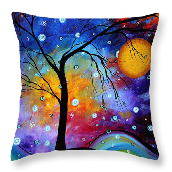WINTER SPARKLE Original MADART Painting Throw Pillow by Megan Duncanson