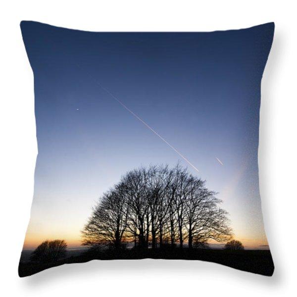 Winter Sunset Throw Pillow by Anne Gilbert