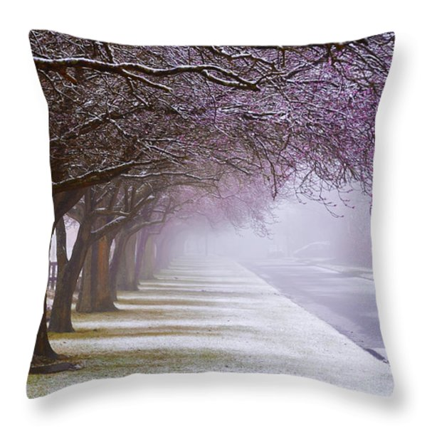Winter Trees Throw Pillow by Svetlana Sewell