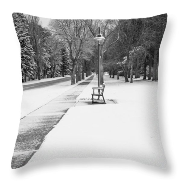 Winter Walk Throw Pillow by Fran Riley