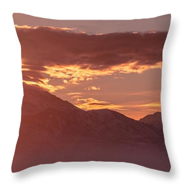 Winter Wasatch Daybreak Throw Pillow by Chad Dutson