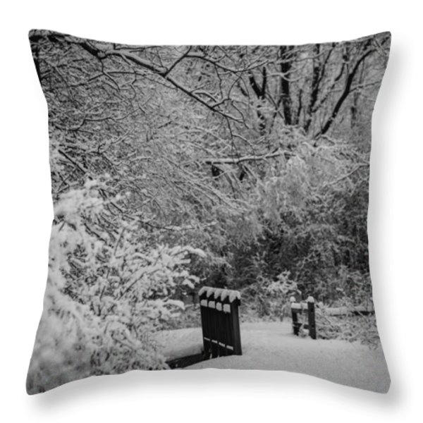 Winter Wonderland Throw Pillow by Sebastian Musial