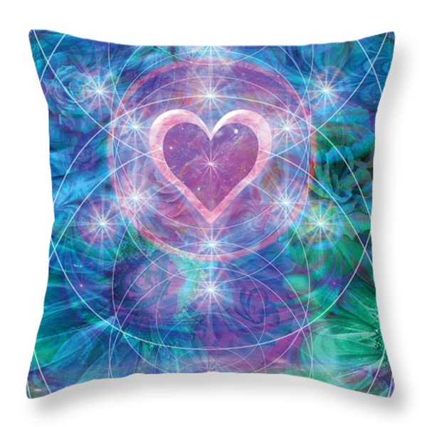 Winterheart Throw Pillow by Alixandra Mullins