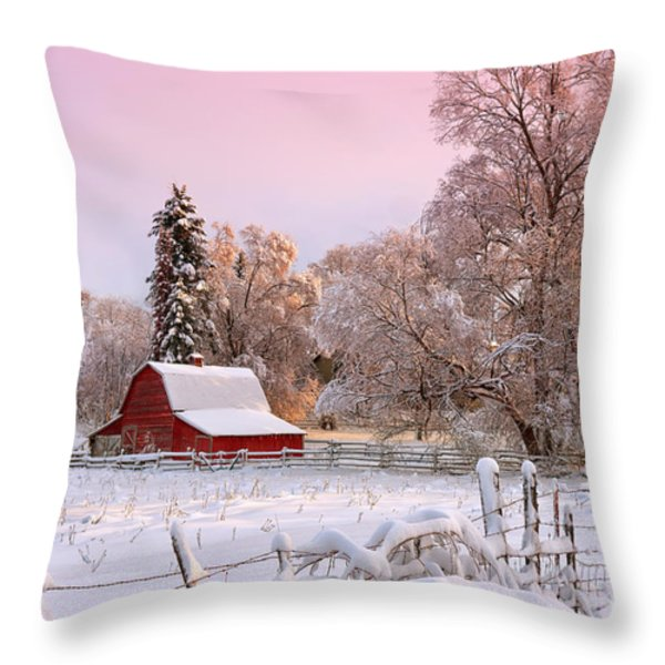 Winters Glow Throw Pillow by Reflective Moment Photography And Digital Art Images