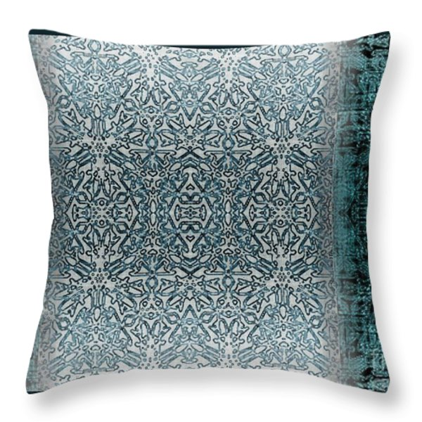 Winters Past And Present Throw Pillow by CR Leyland