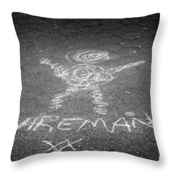 Wireman Throw Pillow by John Farnan