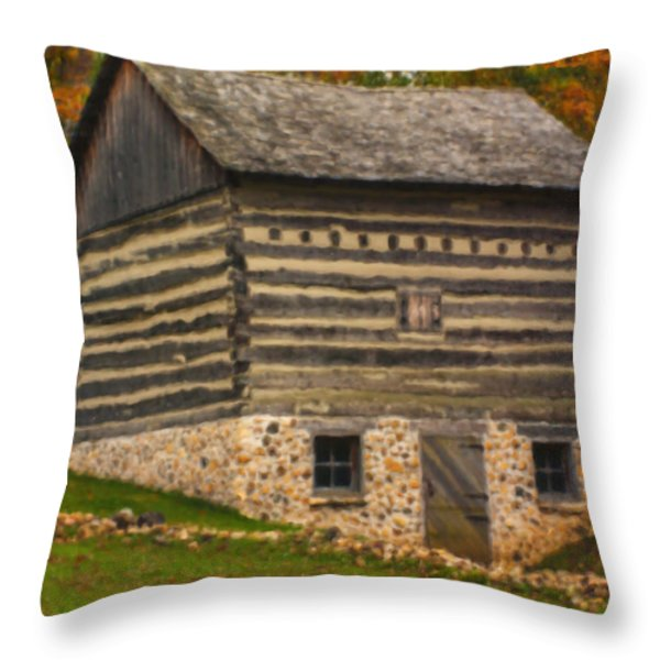 Wisconsin Homestead Throw Pillow by Jack Zulli