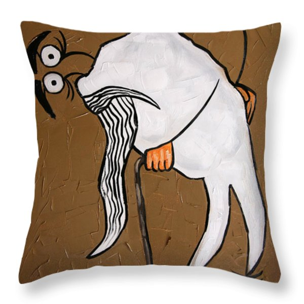 Wisdom Tooth Throw Pillow by Anthony Falbo