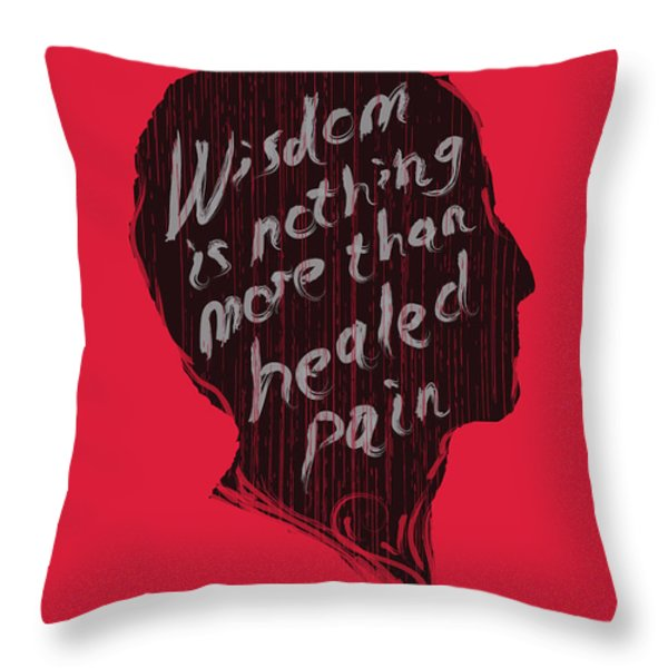 Wise Words Throw Pillow by Budi Kwan