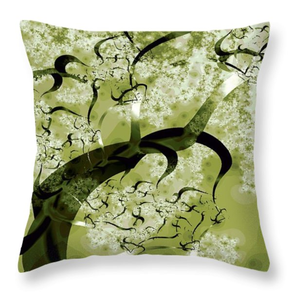 Wishing Tree Throw Pillow by Anastasiya Malakhova