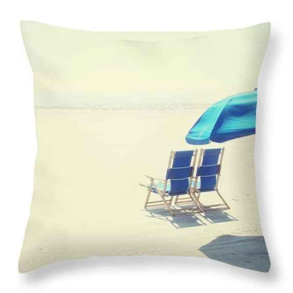 Wishing You Were Here Throw Pillow by Amy Tyler
