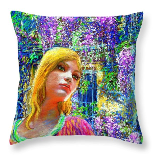 Wisteria Throw Pillow by Jane Small