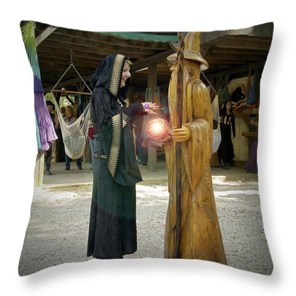 Witch Vs Wizard Throw Pillow by Brian Wallace