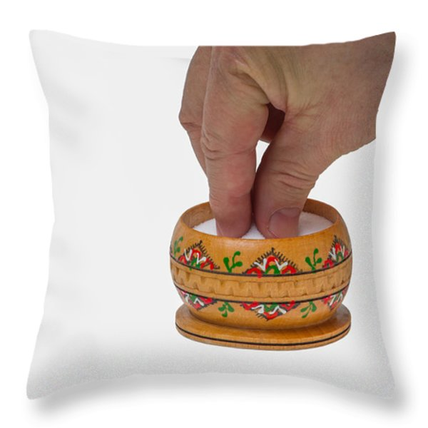 With a grain of salt - Featured 3 Throw Pillow by Alexander Senin