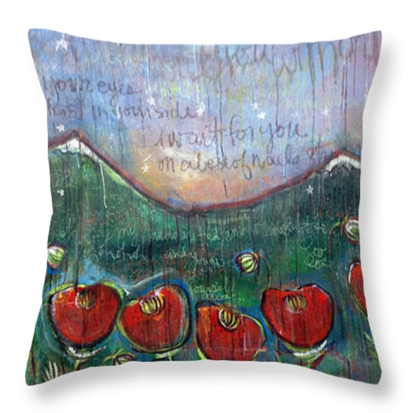 With Or Without You Throw Pillow by Laurie Maves ART