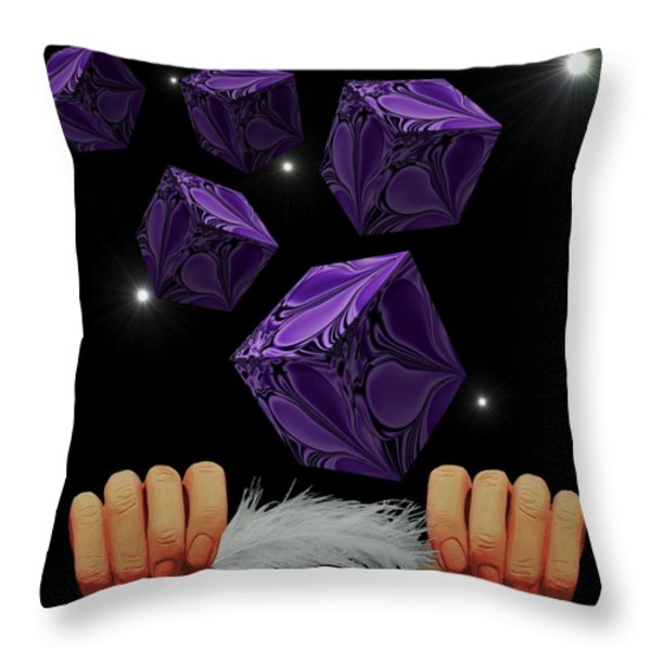 With The Lightest Touch Throw Pillow by Barbara St Jean