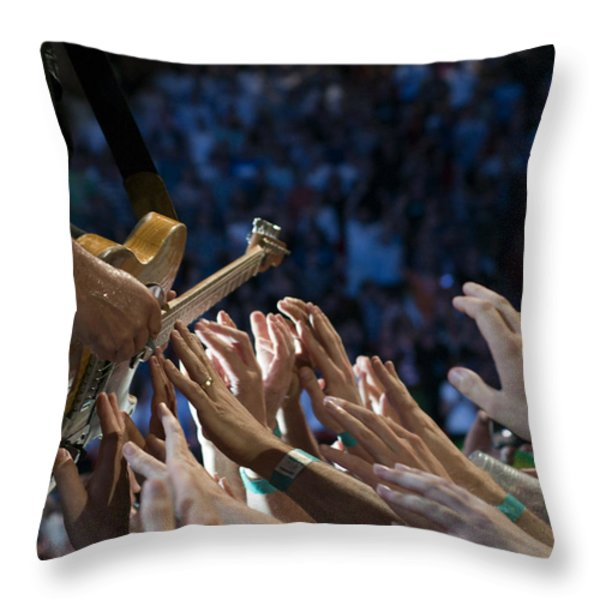 With These Hands Throw Pillow by Jeff Ross