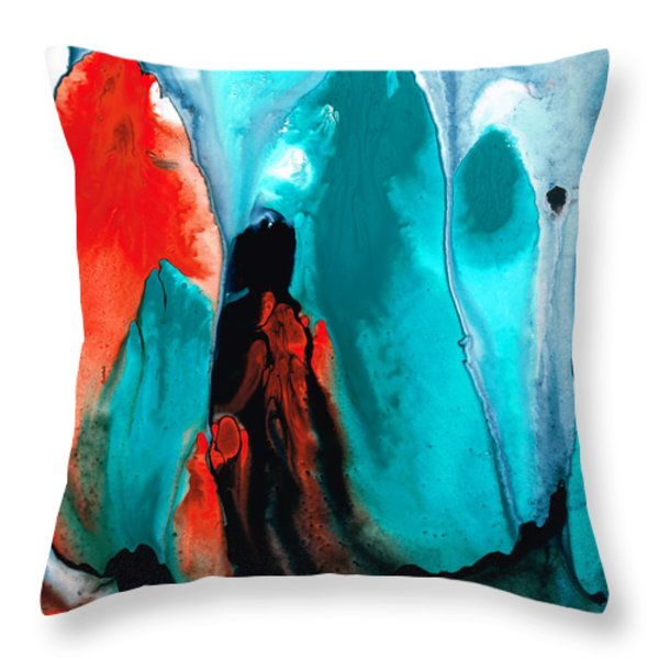 With You Always - Spiritual Painting Art Throw Pillow by Sharon Cummings