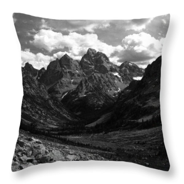 Within The North Fork Of Cascade Canyon Throw Pillow by Raymond Salani III