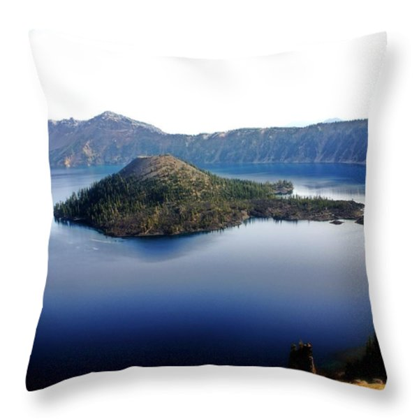 Wizard Island 1 Throw Pillow by Marty Koch