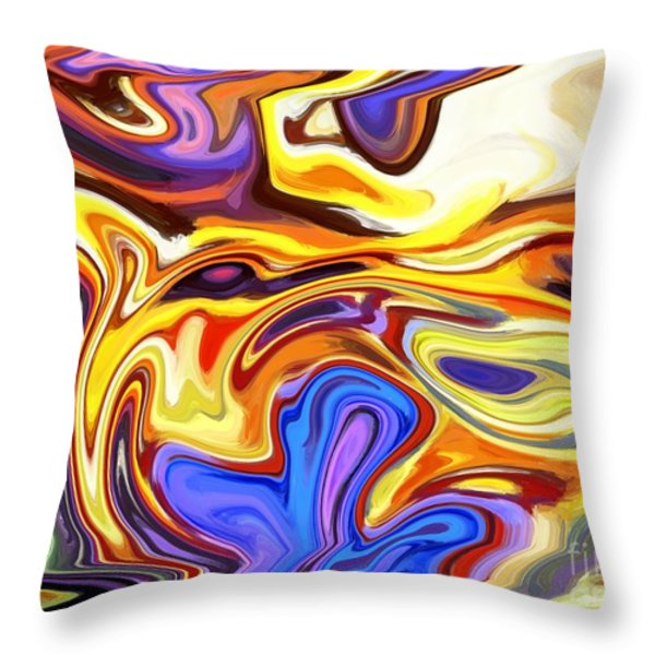 Wolf Breath Throw Pillow by Chris Butler