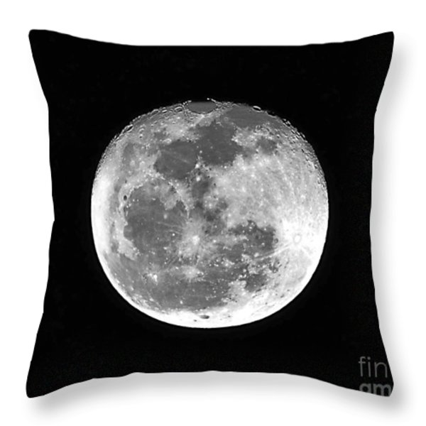 Wolf Moon Waning Throw Pillow by Al Powell Photography USA