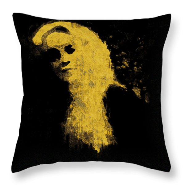 Woman In The Dark Throw Pillow by Pepita Selles