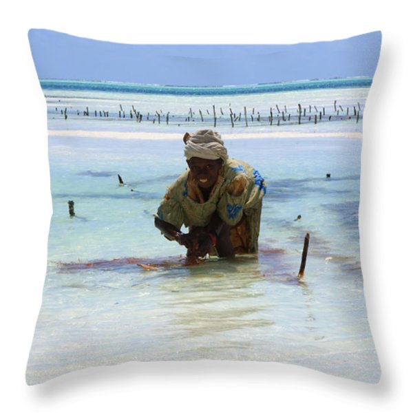 Women Of The Sea Throw Pillow by Aidan Moran