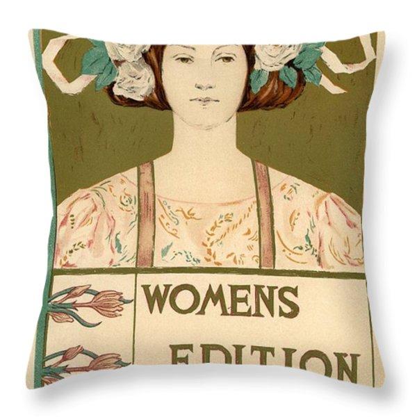 Women's Edition Buffalo Courier Throw Pillow by Gianfranco Weiss