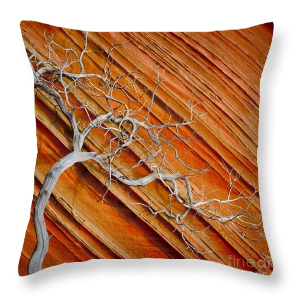 Wood And Stone Throw Pillow by Inge Johnsson