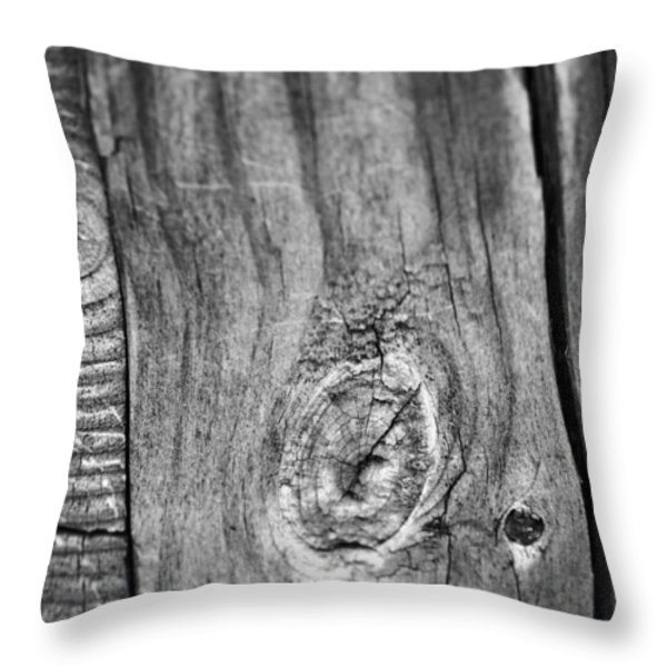 Wood Black And White Throw Pillow by Dan Sproul