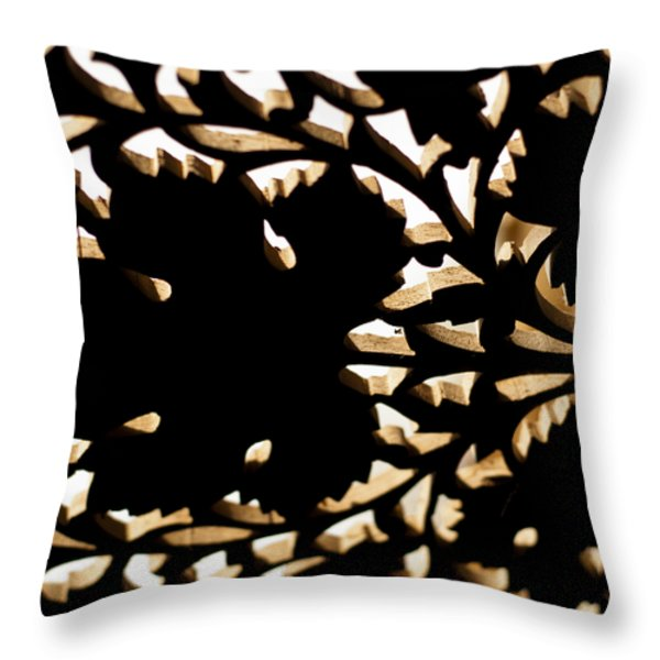 Wood Work Throw Pillow by Christi Kraft