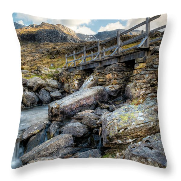 Wooden Bridge Throw Pillow by Adrian Evans