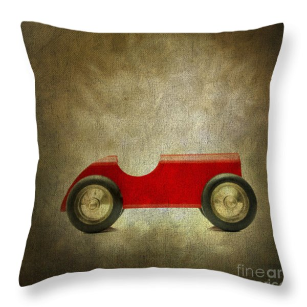 Wooden Toy Car Throw Pillow by Bernard Jaubert
