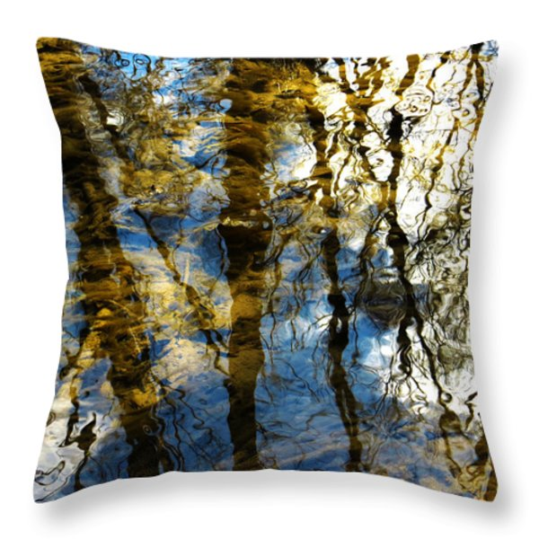 Woodland Reflections Throw Pillow by Shawna  Rowe