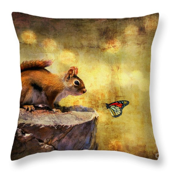 Woodland Wonder Throw Pillow by Lois Bryan
