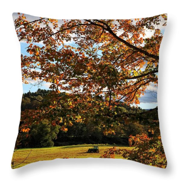Woodstock Vermont Throw Pillow by Edward Fielding