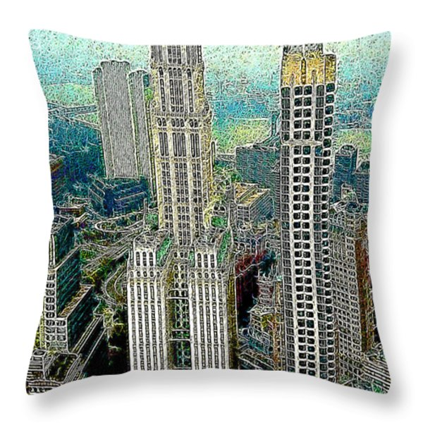 Woolworth Building New York City 20130427 Throw Pillow by Wingsdomain Art and Photography