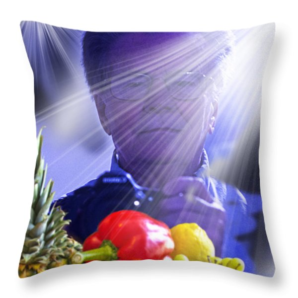 Working Throw Pillow by Chuck Staley
