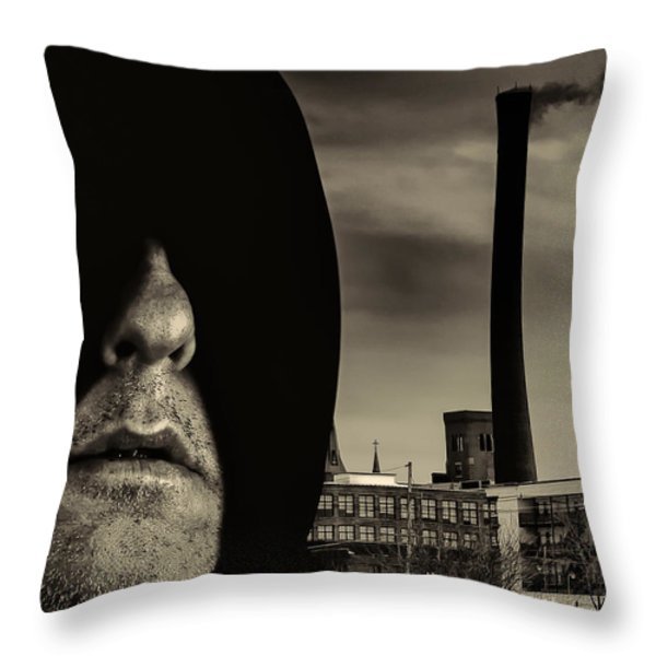 Working Class Man Throw Pillow by Bob Orsillo