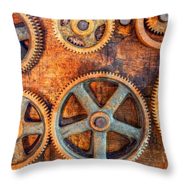Workshop Throw Pillow by Alexey Stiop